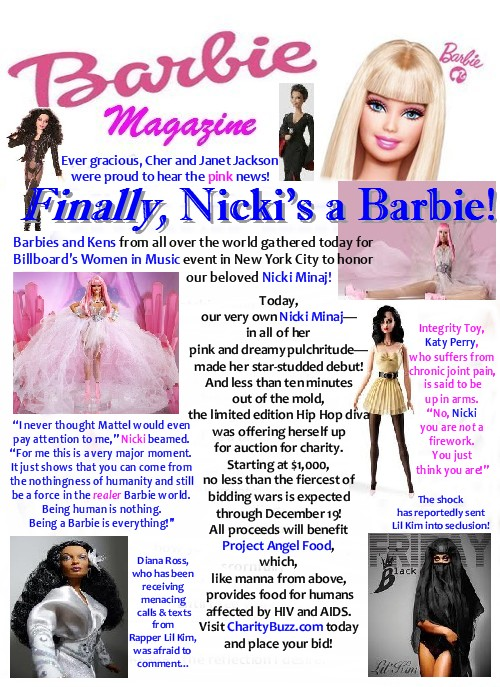 Hip Hop artist Nicki Minaj is finally a Barbie Doll!