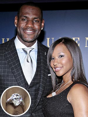 LeBron James Proposes to Savannah Brinson