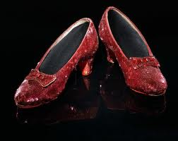 Dorothy's ruby slippers on Blackbiter.com
