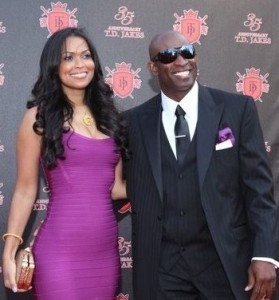 Tracey Edmonds and Deion Sanders, the sportsman.