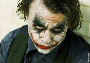 The late Heath Ledger was fabulous as The Joker.