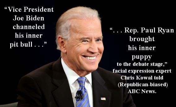 Joe Biden wins 2012 Vice Presidential Debate with bite!