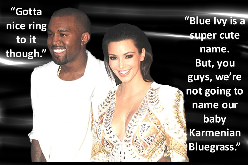 Kim and Kanye konsider a baby name