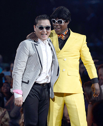 Tracy Morgan and Psy at the BMAs