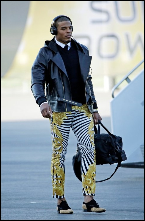 Hopefully these ugly pants won't be the only thing anyone remembers after Cam meets veteran QB, Peyton Manning, in the Super Bowl.
